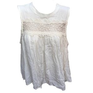 Romeo + Juliet Couture Ivory Lace Flowing Tank Top